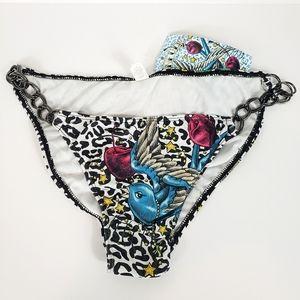 Sinful by Affliction birds cherries bikini bottom